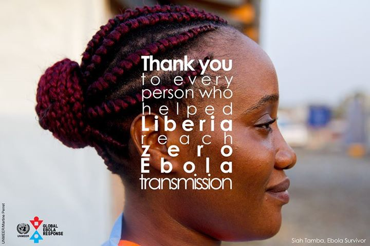 Thank you to every person who helped Liberia reach zero Ebola transmission