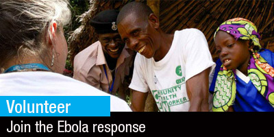 Volunteer join the Ebola response